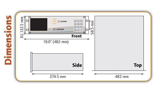 AZ8000 Trace Nitrogen Analyser Dimensions - Orthodyne