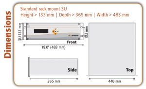 OPM 5000 Oxygen Analyser Dimensions - Orthodyne Gas Chromatography