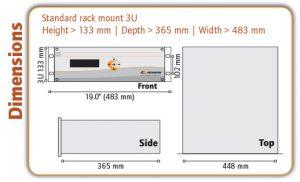 OZR 5000 Trace Oxygen Analyser Dimensions - Orthodyne Gas Chromatography