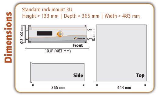 OZR 5000 Trace Oxygen Analyser Dimensions